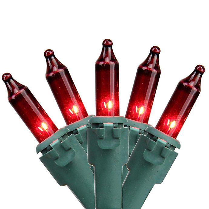 Alternate image 1 for Northlight 8-Foot 35-Light Mini String Lights in Red/Green