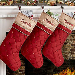Jeweled Holiday Christmas Stocking