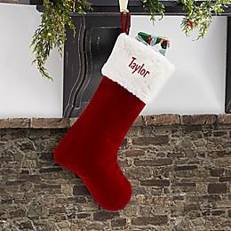 Velvet Elegance Christmas Stocking