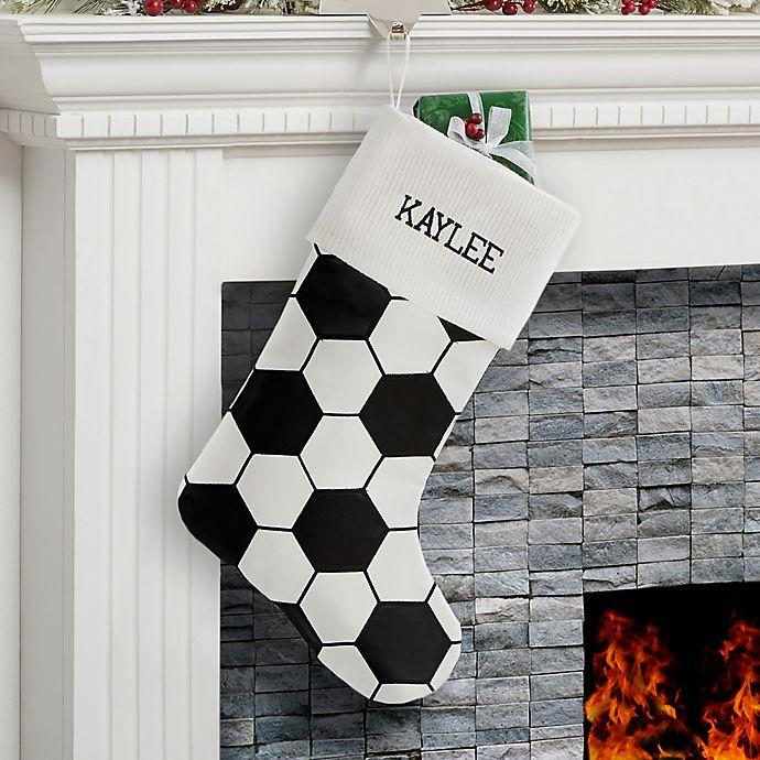 Alternate image 1 for Soccer Ball Christmas Stocking