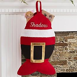 Santa Belt Cat Christmas Stocking
