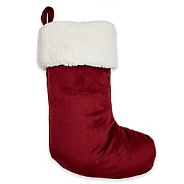 Berkshire Blanket® Furry Christmas Stocking in Red/White