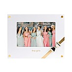 Pearhead Wedding Sentiments The Girls 4-Inch x 6-Inch Picture Frame in White