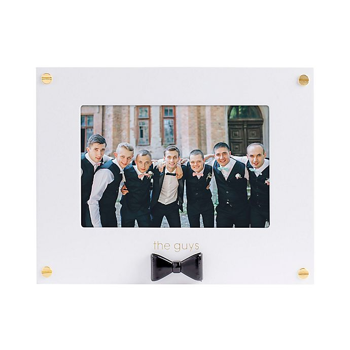Alternate image 1 for Pearhead Wedding Sentiments The Guys 4-Inch x 6-Inch Picture Frame in Black