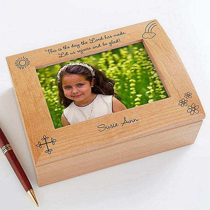 Alternate image 1 for Rejoice and Be Glad Photo Keepsake Box for Girls