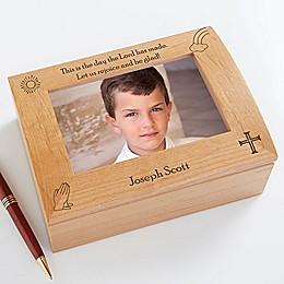 Rejoice and Be Glad Photo Keepsake Box for Boys