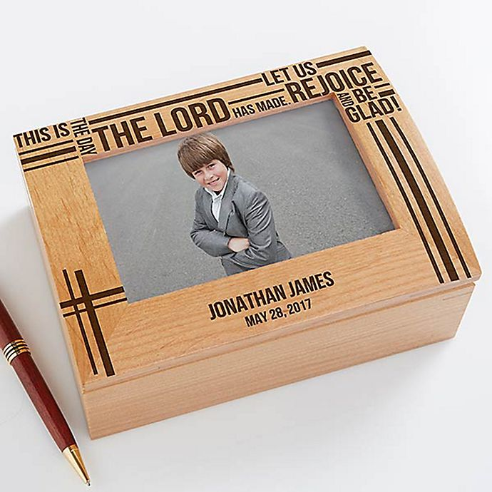 Alternate image 1 for Faith in Prayer Photo Keepsake Box