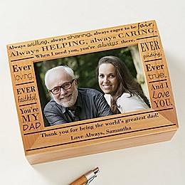 Definition of Dad Photo Keepsake Box