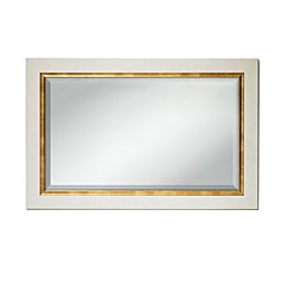 Umbra Elsa 36-Inch by 24-Inch Two-Tone Mirror in White & Gold
