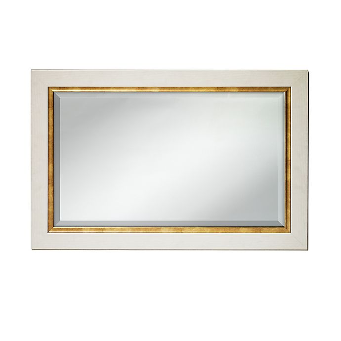 Alternate image 1 for Umbra Elsa 36-Inch by 24-Inch Two-Tone Mirror in White & Gold