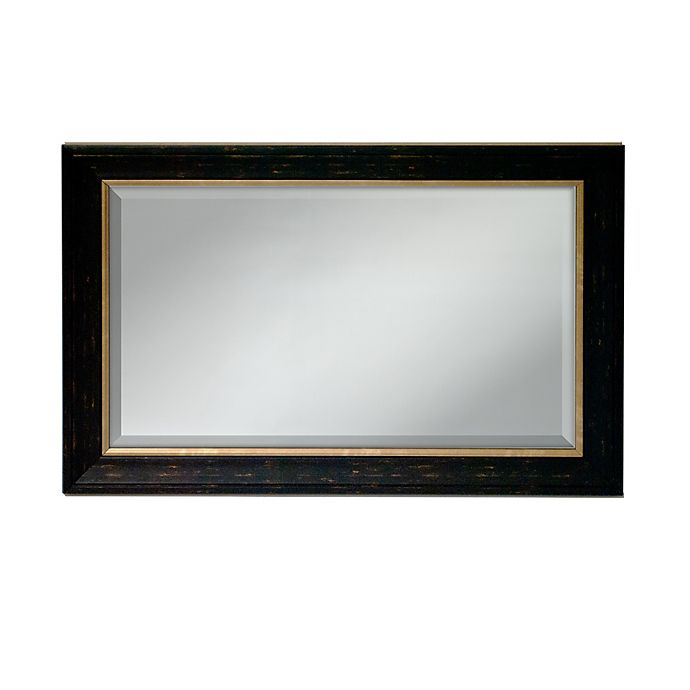 Alternate image 1 for Elsa L 36-Inch by 24-Inch Two-Tone Mirror in Black & Gold