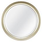 Round 13-Inch Beveled Accent Mirror in Gold