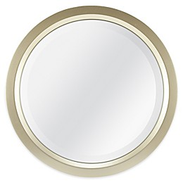 Round 13-Inch Beveled Accent Mirror