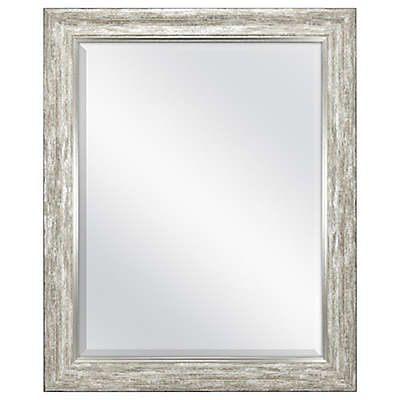 Rustic 26.5-Inch x 32.5-Inch Wall Mirror in Silver