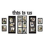 Wallverbs 16-Photo 10-Piece  This is Us  Photo Frame Collection in Distressed Black