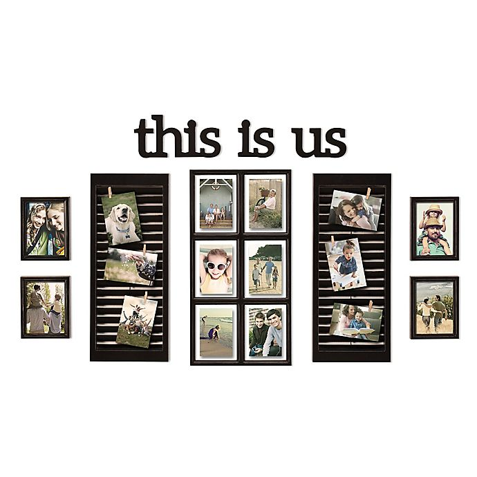 Wallverbs 16 Photo 10 Piece This Is Us Photo Frame Collection In