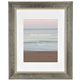 Rustic Wood Picture Frame in Grey