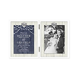 Grasslands Road 5-Inch x 7-Inch Double Opening Hinged Photo Frame in White