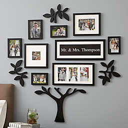 "WallVerbs™ 13-Piece ""Mr. & Mrs."" Personalized Tree Set in Black"