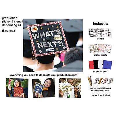 Pearhead Graduation Sticker & Stencil Decorating Kit