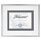 Gallery 8.5-Inch x 11-Inch Double Matted Metal Document Frame in Espresso