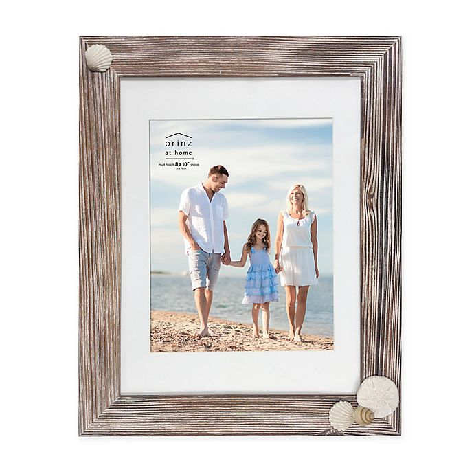 Alternate image 1 for Prinz Coastal Shell 8-Inch x 10-Inch Picture Frame in Natural