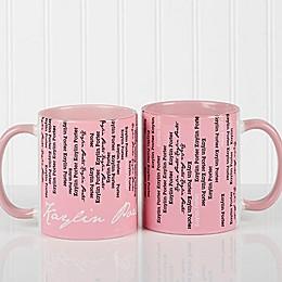 Cascading Names Coffee Mug
