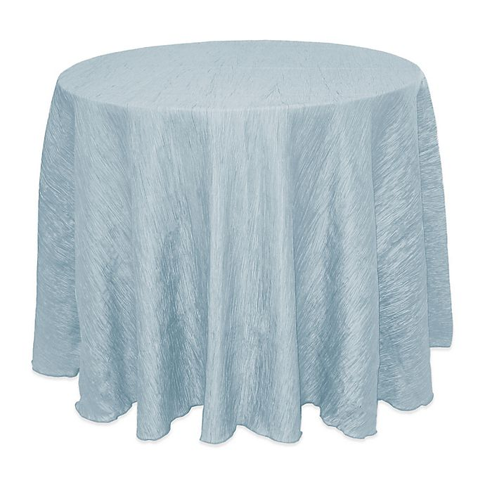 Alternate image 1 for Delano 108-Inch Round Tablecloth in Ice Blue