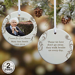 In Loving Memory Photo Memorial 2-Sided Glossy Christmas Ornament