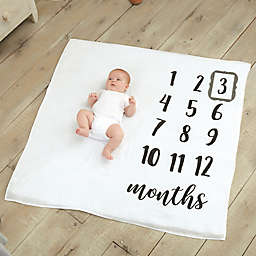 Mud Pie® Monthly Milestone Blanket in White