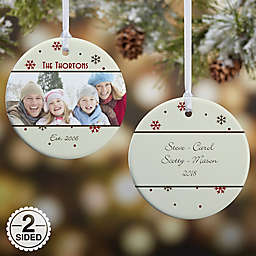 Photo Memories 2-Sided Snowflake Glossy Christmas Ornament