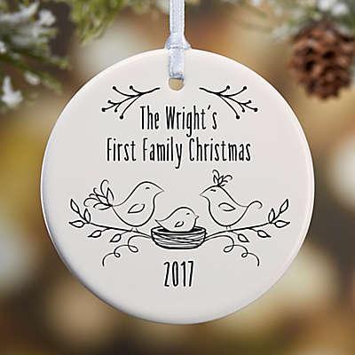 1st Family Christmas 1-Sided Glossy Christmas Ornament