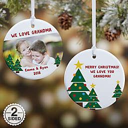 Holiday Hugs & Kisses 2-Sided Glossy Photo Christmas Ornament