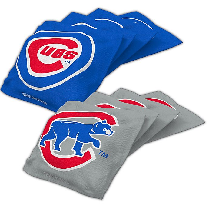Amazing Mlb Chicago Cubs 16 Oz Regulation Cornhole Bean Bags Set Of 4 Gmtry Best Dining Table And Chair Ideas Images Gmtryco