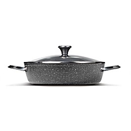 STARFRIT The ROCK Nonstick 5 qt. Dutch Oven with Lid in Black