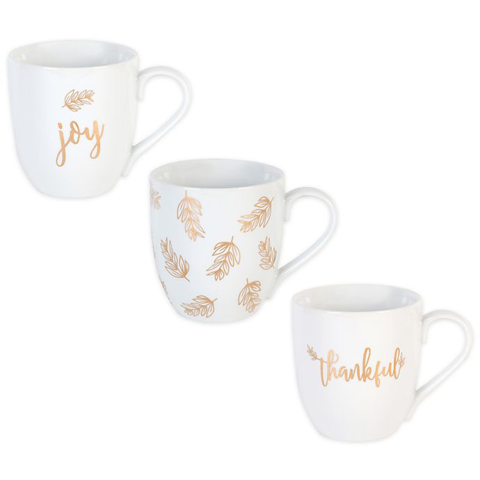b77c5d6f84b1 Everyday White® by Fitz and Floyd® Golden Mug Collection