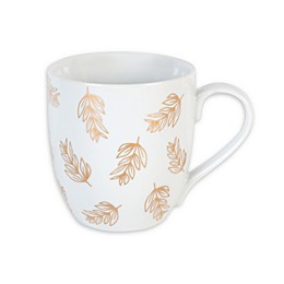 Everyday White® by Fitz and Floyd® Leaves Coupe Mug