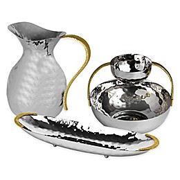 Classic Touch Tervy Spaghetti Serveware Collection in Gold