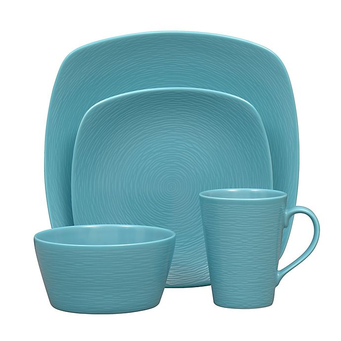 Alternate image 1 for Noritake® Turquoise on Turquoise Swirl Coupe Dinnerware Collection