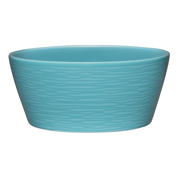 Alternate image 1 for Noritake® Turquoise on Turquoise Swirl Fruit Bowl