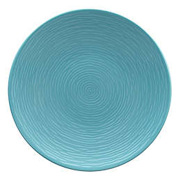 Noritake® Turquoise on Turquoise Swirl Coupe Dinner Plate