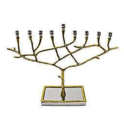 Classic Touch Tervy Gold Menorah