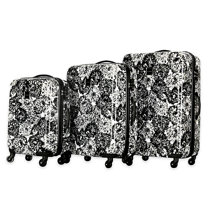 Alternate image 1 for Isaac Mizrahi Boldon 3-Piece Hardside Spinner Set in Black/White