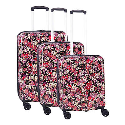 Isaac Mizrahi Harley 3-Piece 8-Wheel Hardside Spinner Luggage Set