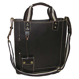 Amerileather Legacy Leather Tote Bag in Black