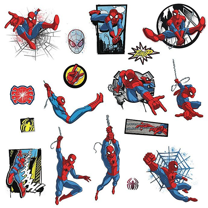 Alternate image 1 for RoomMates® Marvel® Spider-Man Comic Peel and Stick Wall Decals