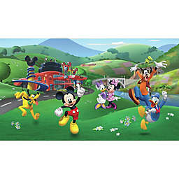 RoomMates® Disney® Mickey and Friends Roadster Racer XL Chair Rail Mural Pre-Pasted Mural