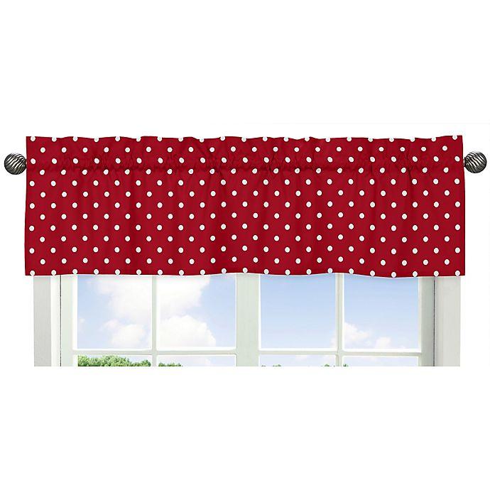 Alternate image 1 for Sweet Jojo Designs Ladybug Polka Dot Window Valance in Red/White