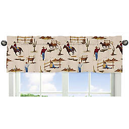 Sweet Jojo Designs Wild West Cowboy Print Window Valance in Red
