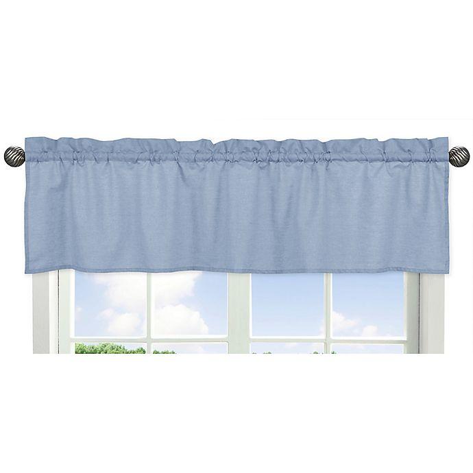 Alternate image 1 for Sweet Jojo Designs Denim Window Valance in Blue